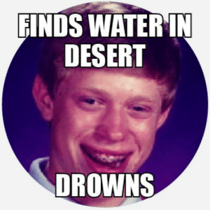 Celebrating a decade of memes (2010): FINDS WATER IN  DESERT  DROWNS Celebrating a decade of memes (2010)