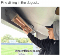 Get em' while they're hot! . . . Hot Baseball Ballplayer Dugout Chef Grilled Sandwiches Delicious: Fine dining in the dugout  What a time to be alive. Get em' while they're hot! . . . Hot Baseball Ballplayer Dugout Chef Grilled Sandwiches Delicious