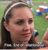 Movie, Fine, and Relationship: Fine. End of relationship Fav part of the movie
