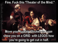 """#flashback #vintagecrits  -Law: Fine. Fuck this """"Theater of the Mind.""""  Move yourfucking Chickengolcan  show you on a GRID with LEGOS how  you're going to get cut in half #flashback #vintagecrits  -Law"""