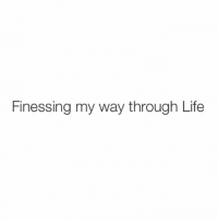 Life, Time, and Haha: Finessing my way through Life One finesse at a time, haha.