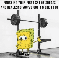 Gym, Squats, and Pain: FINISHING YOUR FIRST SET OF SQUATS  AND REALIZING YOU'VE GOT 4 MORE TO GO The pain is too real 😂