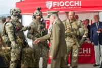 laughoutloud-club:  Italian Army General Claudio Graziano trying to shake hands with a military dummy during an official event, 2018: FIOCCHI  ZCHI  MUNITION laughoutloud-club:  Italian Army General Claudio Graziano trying to shake hands with a military dummy during an official event, 2018