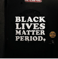 FIRE ALARM PANEL  BLACKK  LIVESS  MATTER  PERIOD BLACKLIVESMATTER .