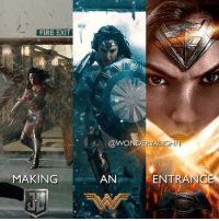 Fire, Memes, and Women: FIRE EXIT  @WONDERVAUGHN  MAKING  AN  ENTRANC SHOW THEM UP! @gal_gadot as WONDER WOMAN in her DCEU film appearances *** mywonderwoman girlpower women femaleempowerment MulherMaravilha MujerMaravilla galgadot unitetheleague princessdiana dianaprince amazons amazonwarrior manofsteel thedarkknight