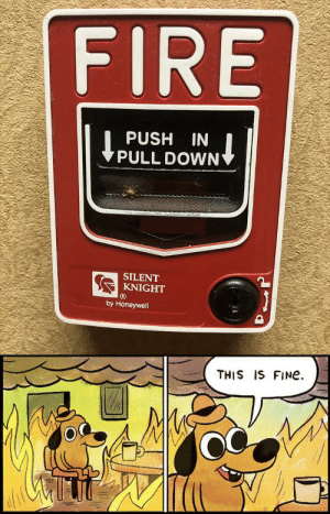 It's not worth it...: FIRE  PUSH IN  PULL DOWN  SILENT  KNIGHT  by Honeywell  THIS IS FINe It's not worth it...