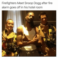 Fire, Funny, and Snoop: Firefighters Meet Snoop Dogg after fire  alarm goes off in his hotel room I wonder what happened