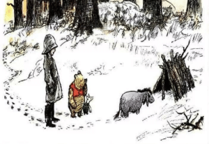 "Being Alone, Friends, and Hello: firesuns:  spirituallyminded:  It occurred to Pooh and Piglet that they hadn't heard from Eeyore for several days, so they put on their hats and coats and trotted across the Hundred Acre Wood to Eeyore's stick house. Inside the house was Eeyore. ""Hello Eeyore,"" said Pooh. ""Hello Pooh. Hello Piglet,"" said Eeyore, in a Glum Sounding Voice. ""We just thought we'd check in on you,"" said Piglet, ""because we hadn't heard from you, and so we wanted to know if you were okay."" Eeyore was silent for a moment. ""Am I okay?"" he asked, eventually. ""Well, I don't know, to be honest. Are any of us really okay? That's what I ask myself. All I can tell you, Pooh and Piglet, is that right now I feel really rather Sad, and Alone, and Not Much Fun To Be Around At All. Which is why I haven't bothered you. Because you wouldn't want to waste your time hanging out with someone who is Sad, and Alone, and Not Much Fun To Be Around At All, would you now."" Pooh looked and Piglet, and Piglet looked at Pooh, and they both sat down, one on either side of Eeyore in his stick house. Eeyore looked at them in surprise. ""What are you doing?"" ""We're sitting here with you,"" said Pooh, ""because we are your friends. And true friends don't care if someone is feeling Sad, or Alone, or Not Much Fun To Be Around At All. True friends are there for you anyway. And so here we are."" ""Oh,"" said Eeyore. ""Oh."" And the three of them sat there in silence, and while Pooh and Piglet said nothing at all; somehow, almost imperceptibly, Eeyore started to feel a very tiny little bit better. Because Pooh and Piglet were There. No more; no less. ~ Kathryn Wallace"
