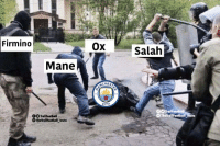 Memes, Live, and 🤖: Firmino  Ox  Salah  Mane  CITY  0OTrollFoot  TheTrollFootball Insto  00TrollFootball  TheTrolifootball Insta Live scenes from Anfield https://t.co/kxH2TEeKPQ