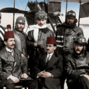 First Black Pilot, Ahmad Ali Efendi, born 1883, with his squad. Fought for Ottoman in WWI.: First Black Pilot, Ahmad Ali Efendi, born 1883, with his squad. Fought for Ottoman in WWI.