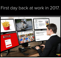 Dank, Netflix, and 🤖: First day back at work in 2017  Balloon  Google  beans even stevens  IMPORTANT STUFF  I NEED DO:  NETFLIX  Fuck  Sign In  FUNNY  SDIE New year. New you. No idea what you're supposed to be doing.