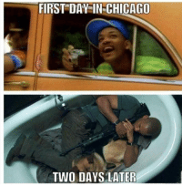 Chicago, Life, and Got: FIRST DAY IN-CHICAGO  TWO DAYS LATER Life got flipped turned upside down