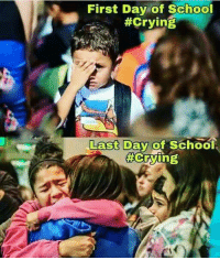 Last Day Of School: First Day of School  #Crying  Last Day of School  Crying