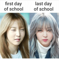 Pretty Moonbyul 😍😍  -quincy: first day  of school  last day  of school Pretty Moonbyul 😍😍  -quincy