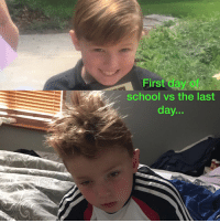 first day of school: First day of  school vs the last  day