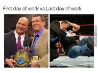 And that's the bottom line, cause Stone Cold says so!: First day of work vs Last day of work  comfy sweaters And that's the bottom line, cause Stone Cold says so!