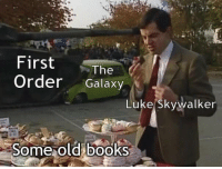 "Books, Luke Skywalker, and Old: First e  Order Galaxy  The  Luke Skywalker  Some old books <p>Excellent versatility in this format! via /r/MemeEconomy <a href=""https://ift.tt/2qrE9EV"">https://ift.tt/2qrE9EV</a></p>"