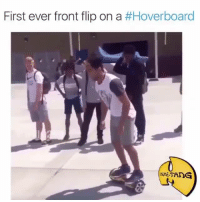 Hoverboard: First ever front flip on a  #Hoverboard  TANG