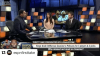 "YEAH I SAID IT! (Via @espnfirsttake) ・・・ ""The Sacramento Kings should be ashamed of themselves."" -@stephenasmith: FIRST  FIRST TAKE PRESENTED BY LEGALZOOM  BAYOU  Kings trade DeMarcus Cousins to Pelicans for 3 players & 2 picks  IEI  Who missed out most on Cousins?  espnfirsttake YEAH I SAID IT! (Via @espnfirsttake) ・・・ ""The Sacramento Kings should be ashamed of themselves."" -@stephenasmith"