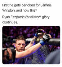 Fall, Jameis Winston, and Glory: First he gets benched for Jameis  Winston, and now this?  Ryan Fitzpatrick's fall from glory  continues https://t.co/iYQk5rVLVf