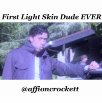 "Dude, Memes, and Tbt: First Light Skin Dude EVER  @affioncrockett tbt ""HiLight: the Yellow Moon"" twilight lightskin wavyhair wavyCrockett ☺️😂 @breshawebb @makeupbykweli"