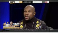 FloydMayweather joins ESPN' First Take and speaks about the ChrisBrown vs. SouljaBoy fight! 👊😳 (Via: ESPN First Take-YouTube) WSHH: FIRST  LIV  JANUARY 11, 2017  STREAMING LIVE ON  WATCH  TAKE  FIRST  FLOYD MAYWEATHER ON  UCONN nuesdays win was Connecticut's 9th 100-point game during the streak. The pot  ESFT FloydMayweather joins ESPN' First Take and speaks about the ChrisBrown vs. SouljaBoy fight! 👊😳 (Via: ESPN First Take-YouTube) WSHH