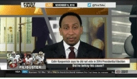 Steven A. Smith has long been one of my favorite sports analysts and he straight up drops the hammer on Colin Kaepernick here. Well done, sir. ~SF: FIRST  LIVE NOVEMBER 9, 2016  @FirstTake  TAKE  Colin Kaepernick says he did not vote in 2016 Presidential Election  Did he betray his cause?  FILIBUSTER  NBA DAL arne 21 pte an-- Pre in harkin-hark nnmoc for 1  time in career RS Steven A. Smith has long been one of my favorite sports analysts and he straight up drops the hammer on Colin Kaepernick here. Well done, sir. ~SF