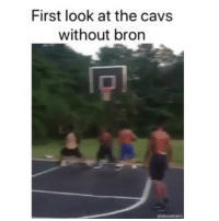 Basketball, Cavs, and Fake: First look at the cavs  without bron  ONBAMEMES That fake was deadly 😂 nbamemes nba cavs lebron (Via playbxi-Twitter)