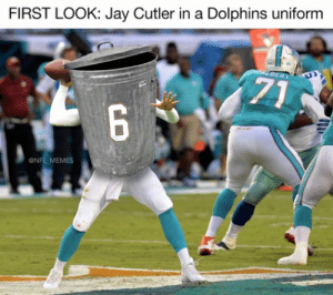 Football, Funny, and Jay: FIRST LOOK: Jay Cutler in a Dolphins uniform  AEDERT  71  6  MAM  @NFL MEMES Funny Nfl Referee Quotes tops Funny Football Referee Quotes New 15 ...