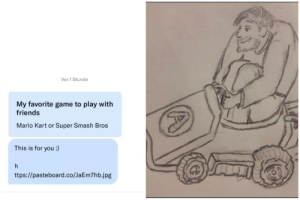 "First message and she sent me this. Probably the best thing ever happened to me on dating apps. (btw I'm about 6'7"" and I love Mario Kart): First message and she sent me this. Probably the best thing ever happened to me on dating apps. (btw I'm about 6'7"" and I love Mario Kart)"
