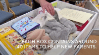 Memes, Summer, and Scotland: FIRST MINISTER O  TIONS  ACH BOX CONTAINS AROUND  40 ITEMS TO HELP NEW PARENTS Every baby born in Scotland this summer will be given a cardboard box they can sleep in.  The baby box, filled with essentials for newborns, was originally introduced in Finland to cut infant mortality.