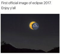 Sorry for the camera quality, I did my best: First official image of eclipse 2017.  Enjoy y'all Sorry for the camera quality, I did my best