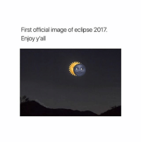 Swipe - Carl: First official image of eclipse 2017.  Enjoy y'all Swipe - Carl