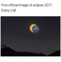 Wow. We're so lucky to be alive and witness something like this (@masipopal): First official image of eclipse 2017  Enjoy y'all Wow. We're so lucky to be alive and witness something like this (@masipopal)