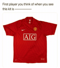 Memes, Nike, and 🤖: First player you think of when you see  this kit is  AIG  Nike HT Who is it? 🤔👇