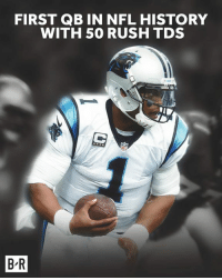 A win over the Patriots and a record for Cam Newton.: FIRST QB IN NFL HISTORY  WITH 50 RUSH TDS  1  B-R A win over the Patriots and a record for Cam Newton.