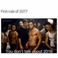 Happy New Year chingons! #2017: First rule of 2017  You don't talk about 2016. Happy New Year chingons! #2017