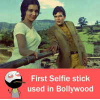 Memes, Selfie, and Selfie Stick: First Selfie stick  used in Bollywood