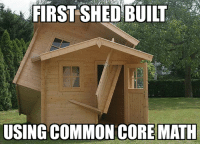 Millenial high schoolers building project: FIRST SHED BUILT  USING COMMON CORE MATH Millenial high schoolers building project