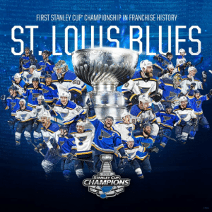💙💙 The Blues Won!!! 💙💙: FIRST STANLEY CUP CHAMPIONSHIP IN FRANCHISE HISTORY  ST LQUS BLUES  50  OITEGFGMEDAN  Brre  BBL  2019  STANLEY CUP  CHAMPIONS  CNHI 💙💙 The Blues Won!!! 💙💙