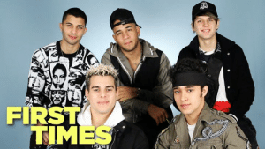 CNCO gives us the scoop about their first kiss, their celeb crushes and the first purchases they made as celebs.: FIRST  TIMES CNCO gives us the scoop about their first kiss, their celeb crushes and the first purchases they made as celebs.