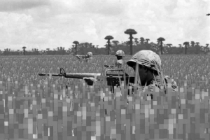 Soldiers, Vietnam, and Vietnamese: First US soldiers to set foot on Vietnamese soil during the Vietnam War (circa 1955)