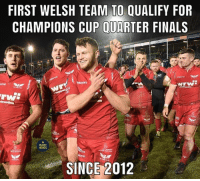 Finals, Memes, and Pool: FIRST WELSH TEAM TO QUALIFY FOR  CHAMPIONS CUP QUARTER FINALS  aon  on  RUGBY  MEMES  is  SINCE 2012 Top of the pool no less 🔴👌🏼 rugby scarlets toulon championscup