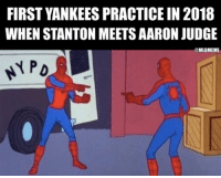 The #Yankees have both! 😲 https://t.co/wlcU9F0HLr: FIRST YANKEES PRACTICE IN 2018  WHEN STANTON MEETS AARON JUDGE  @MLBMEME The #Yankees have both! 😲 https://t.co/wlcU9F0HLr