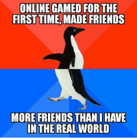 I played an online game for the first time: FIRSTTIME, MADE FRIENDS  MORE FRIENDS THAN I HAVE I played an online game for the first time