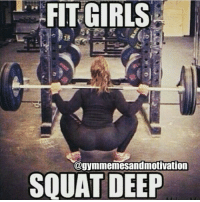 ➕ @majestic_fitness ➕: FIT GIRLS  @gymmemesandmotivation  SQUAT DEEP ➕ @majestic_fitness ➕