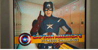 "Jon Watts and writers came up with funny things Cap could say in his Fitness Challenge, put them on a teleprompter, and had Chris Evans stand there and read through them. ""It's really funny, because Chris is so NOT like Captain America in person, but him being Cap and then just reading this stuff totally fresh, in that old costume, was so funny.""  (Andrew Gifford): FITNESS CHALLENGE Jon Watts and writers came up with funny things Cap could say in his Fitness Challenge, put them on a teleprompter, and had Chris Evans stand there and read through them. ""It's really funny, because Chris is so NOT like Captain America in person, but him being Cap and then just reading this stuff totally fresh, in that old costume, was so funny.""  (Andrew Gifford)"