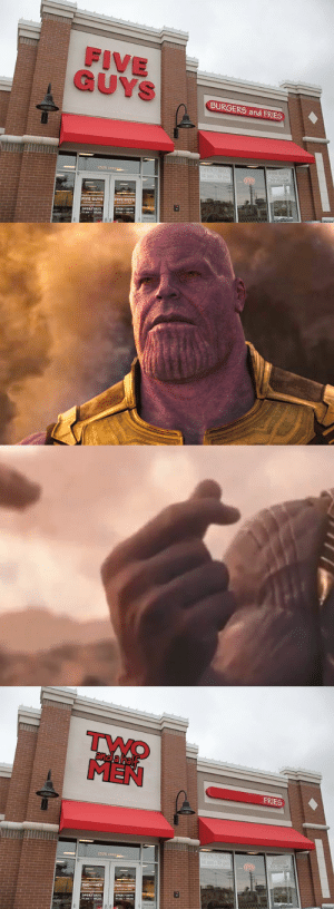 square:Perfectly balanced… as all things should be.: FIVE  BURGERS and FRIES  2526 pARK  FIVE GUYS   and a hal  MEN  FRIES  2526 pARK square:Perfectly balanced… as all things should be.