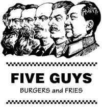 political power comes from the bun 🍔🍟🍔🍟🍔🍟: FIVE GUYS  BURGERS and FRIES political power comes from the bun 🍔🍟🍔🍟🍔🍟