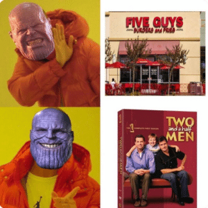 Dank, Memes, and Target: FIVE GUYS  THI ,|COMPLETE F'RST SEASON  and anal  MEN Perfectly Balanced by DisDudeForReal FOLLOW HERE 4 MORE MEMES.